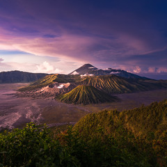 Mount Bromo volcano in East Java, Indonesia