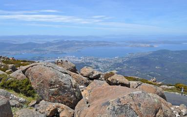 View from Mount Wellington, Tasmania, Australia