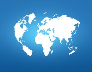 楕円の世界地図