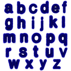blue grass letters, lowercase