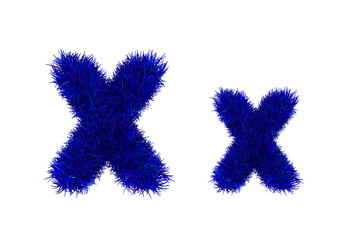 blue grass letters, upper and lowercase