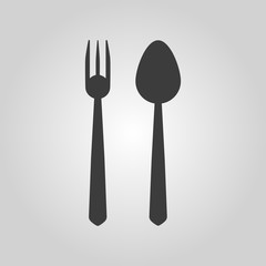 The spoon and fork icon