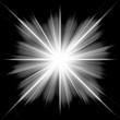 Design background of black-white luminous rays
