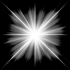 Design background of black-white luminous rays