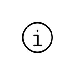 Info Trendy Thin Line Icon