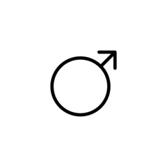 Male Trendy Thin Line Icon