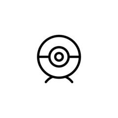 Webcam Trendy Thin Line Icon