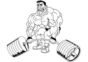 cartoon funny bodybuilder