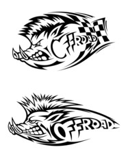 Snarling wild boar Off Road icon
