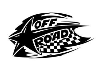Off Road motor sport event icon