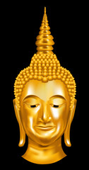 buddha head portrait on a dark background. vector