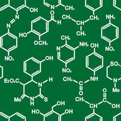 Chemistry organic seamless pattern