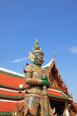 Giant statue in temple of Thailand