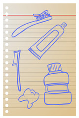 doodle Tooth paste, tooth brush and tooth