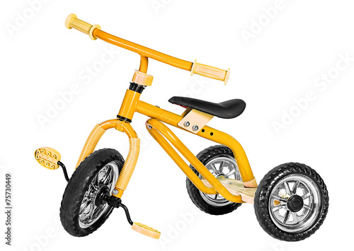 Kids yellow tricycle - 75730449