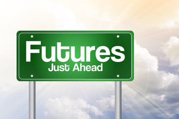 Futures Green Road Sign, Business Concept