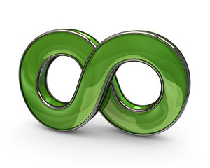 Green infinity symbol