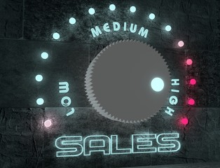 sales adjust regulator from low to high