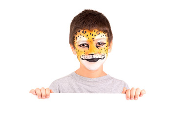 Boy with face-paint