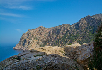 Cliff on the southwestern coast. Mallorca, Spain.