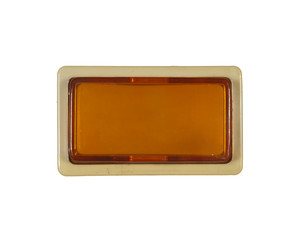Rectangular button yellow isolated on white background.
