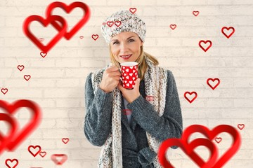 Composite image of valentines blonde