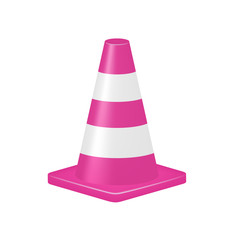 Pink traffic cone