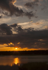 Midsummer sunset, Karlstad, Sweden.