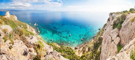 """Panoramic view over the """"Sella del Diavolo"""" in Cagliari"""