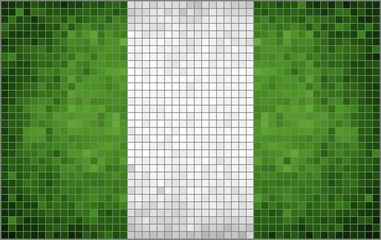 Abstract Mosaic Flag of Nigeria