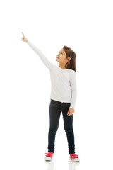 Little girl pointing