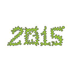 Date 2015 (wavy green)