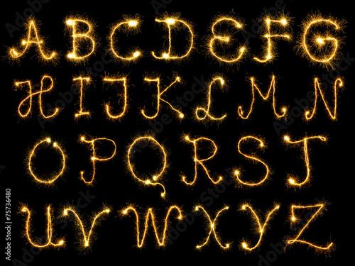 Leinwandbild Motiv Sparking alphabet