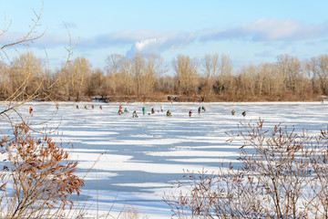 Fishermen on the Frozen River