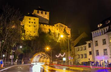 View of Schattenburg castle in Feldkirch - Austria