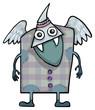 Weird friendly alien, monster creature