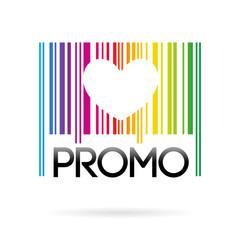 promo code-barres arc-en-ciel
