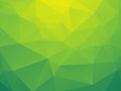 abstract triangular yellow green bio background - 75738641