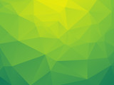 abstract triangular yellow green bio background poster