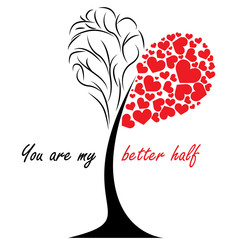 Love tree - Valentines Day Gift card