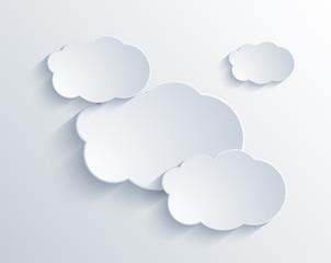 Vector cloud design element