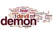 canvas print picture - Demon word cloud
