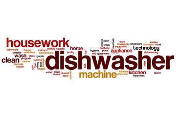 Dishwasher word cloud