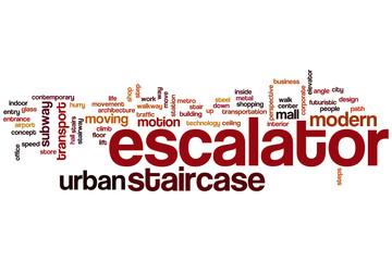 Escalator word cloud