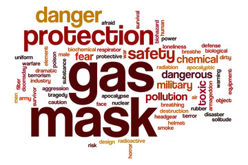 Gas mask word cloud