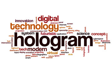 Hologram word cloud