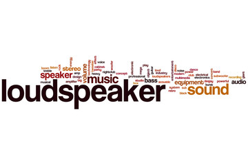 Loudspeaker word cloud