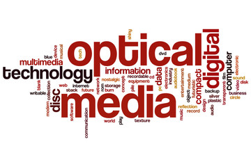 Optical media word cloud