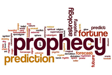 Prophecy word cloud