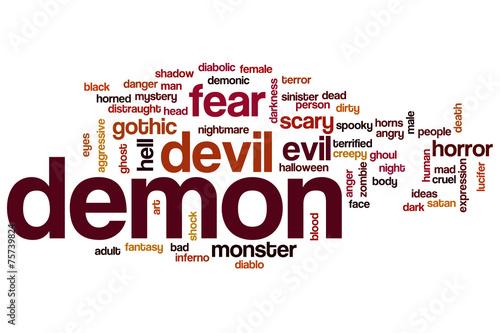 canvas print picture Demon word cloud